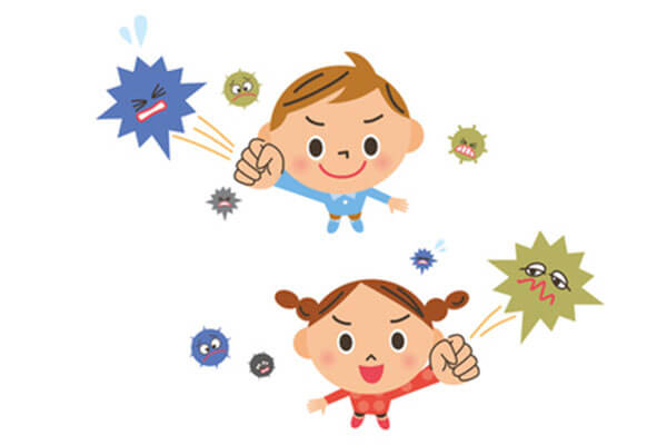 子供の免疫力を高めてインフルエンザに負けない体に