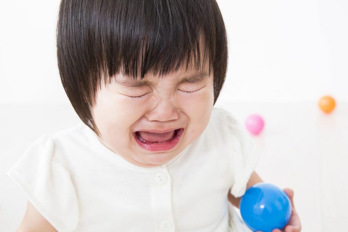 花粉症で辛い赤ちゃん