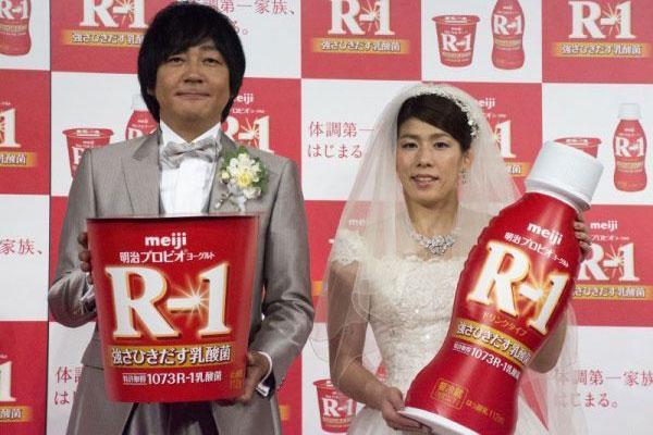吉田沙保里さんの「強さひきだす乳酸菌R-1」